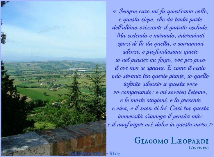 TuttoPerTutti: Conte Giacomo Taldegardo Francesco di Sales Saverio Pietro Leopardi (Recanati, 29 giugno 1798 – Napoli, 14 giugno 1837) ...e io pretendo l'infinito.....