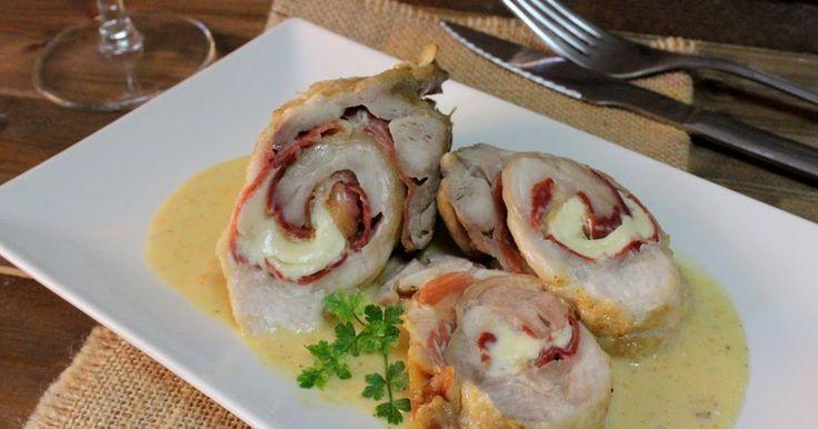 pechugas de pollo rellenas, pechugas de pollo, carne de pollo, recetas con pechugas de pollo, jamón, queso, Julia y sus recetas, recetas de pechugas rellenas