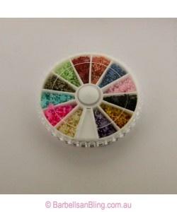 $7.50 Pearl Stone Wheel - Flowers