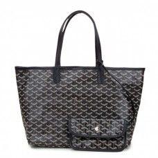 Goyard Saint Louis Tote Bag MM Black