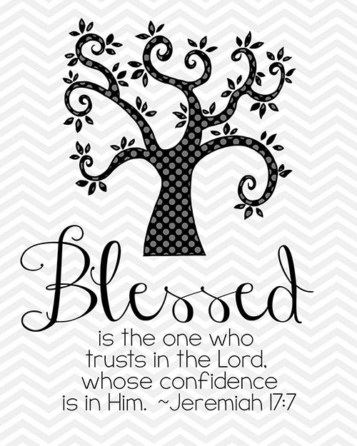 Blessed Printable BW; other colors available