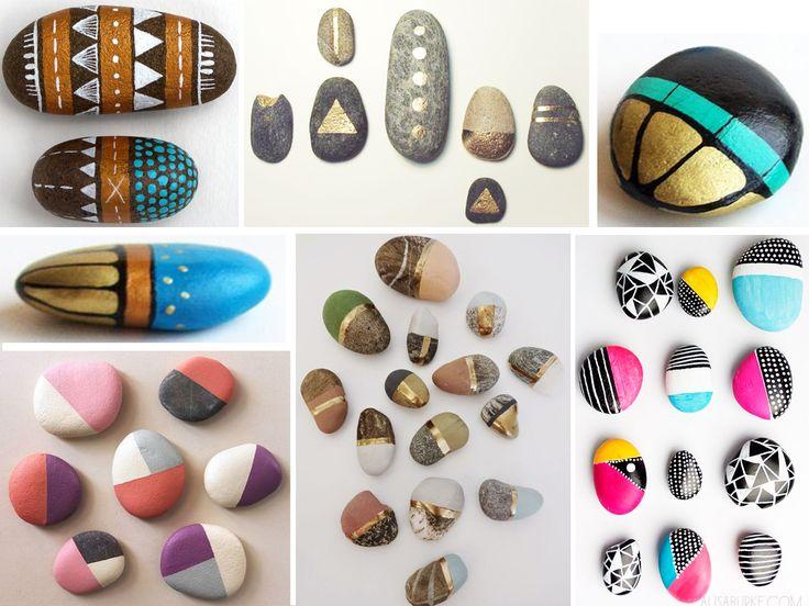 decorar con piedras pintadas