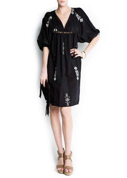 I prefer this dress in a different color (Ethnic style loose-fit dress from Mango)