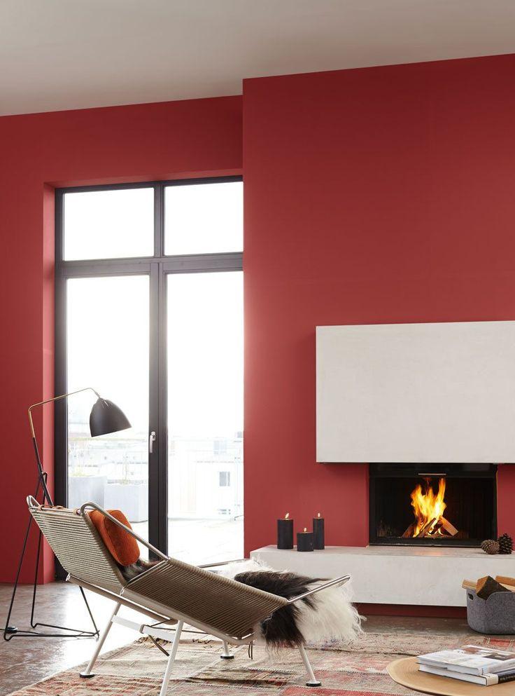 Wohnzimmer in rot Wohnideen Pinterest - bilder wohnzimmer rot