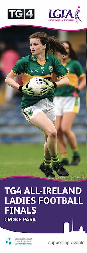 TG4 All-Ireland Ladies Gaelic Football Finals at Croke Park - Dublin Banners