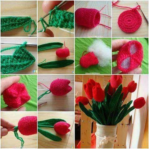 Stuffed tulip