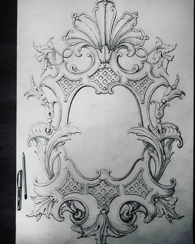 """Эскиз резного медальона в стиле""""классицизм"""". Sketch of a carved…                                                                                                                                                                                 More"""