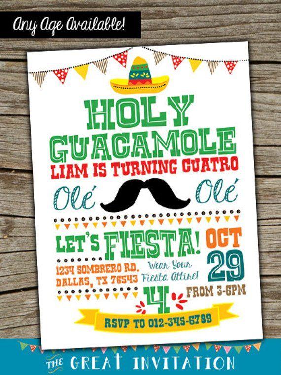 Fiesta Invitation Invite Birthday Party