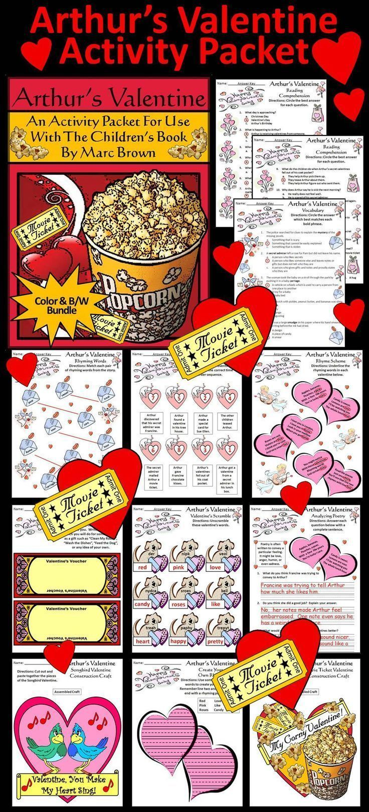 Maths Worksheets For Adults Excel Best  Sequencing Worksheets Ideas On Pinterest  Sequencing  Major Scales Worksheet with Mutation Worksheet High School Excel Arthurs Valentine Activity Packet Activity Packet Complementing The  Childrens Book Arthurs Valentine By Honors Chemistry Worksheets Excel