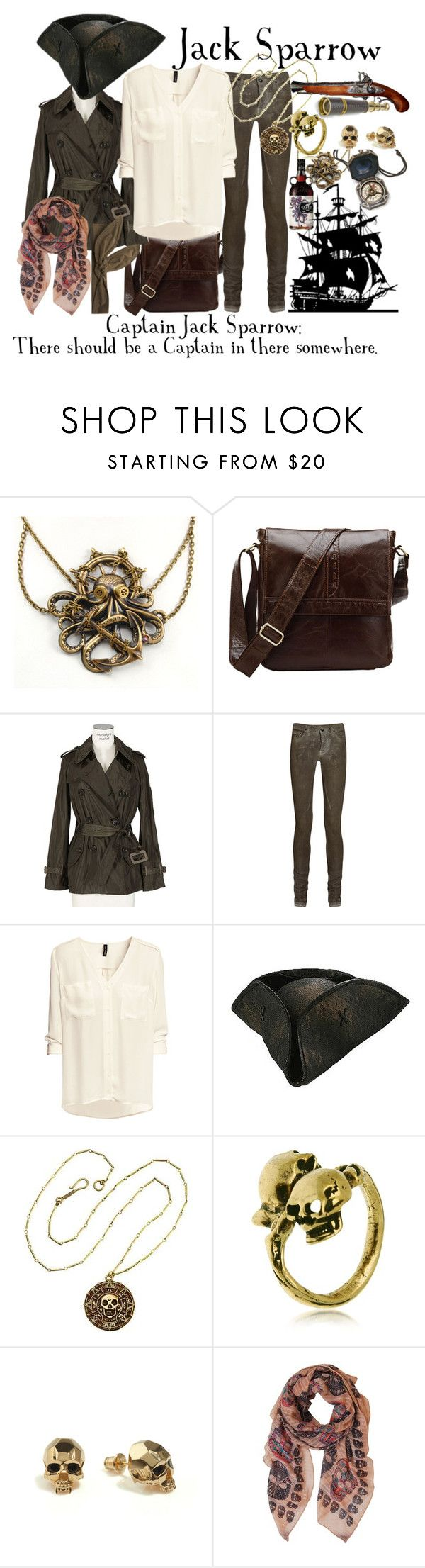 """To my future pirate self"" by jonieisacat ❤ liked on Polyvore featuring Moncler By Sacai, DRKSHDW, H&M, Alcozer & J, Kasun, Humble Chic and Federica Moretti"