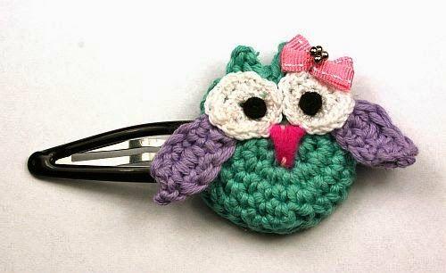 Larris handmade soutache and OOAK: Crochet OWL