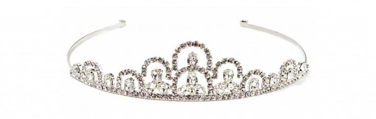 Diadem//Diadema in ottone argentato strass swarovsky crystal  €105,00  #wedding #bride
