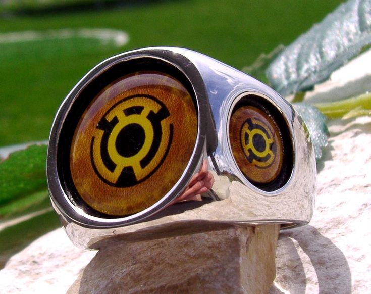 Yellow Lantern Corps Ring Steel Red Blue Silver Dc Comics Green N51