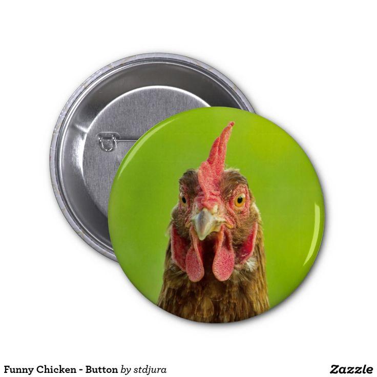 Funny Chicken - Button