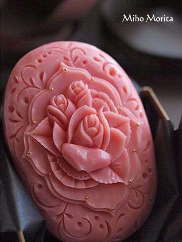 soap carved roses