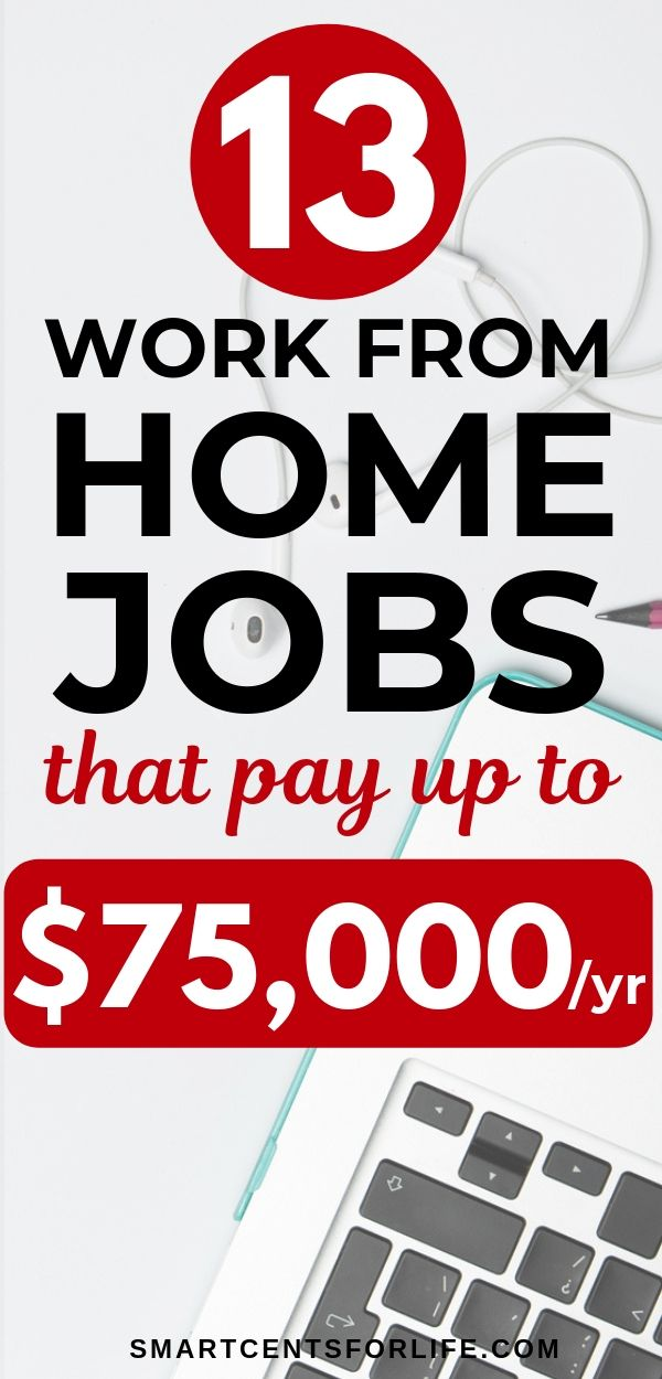 13 Work From Home Jobs That Pay Up to $75,000 Per Year