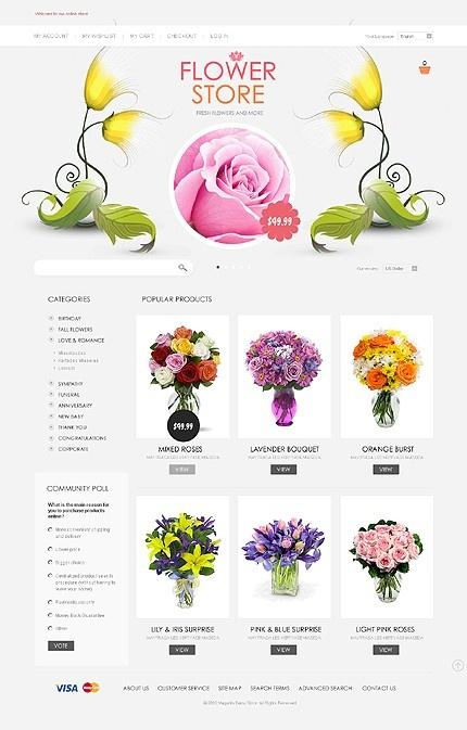 #Magento #Flower store theme. $180