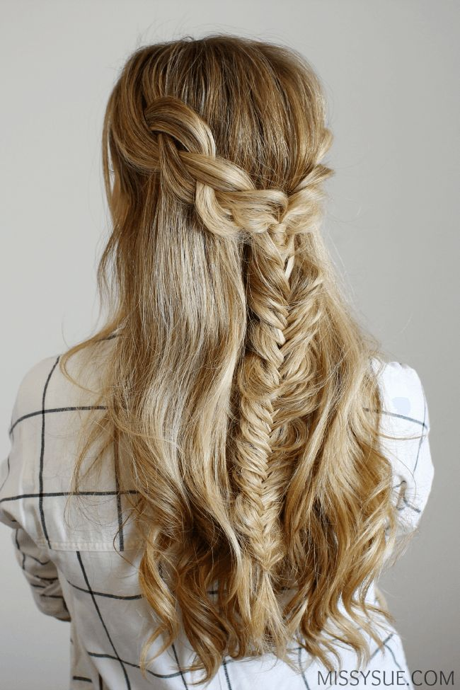 Half Up Braids and Fishtail