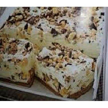 Violet Crumble Cheesecake Slice