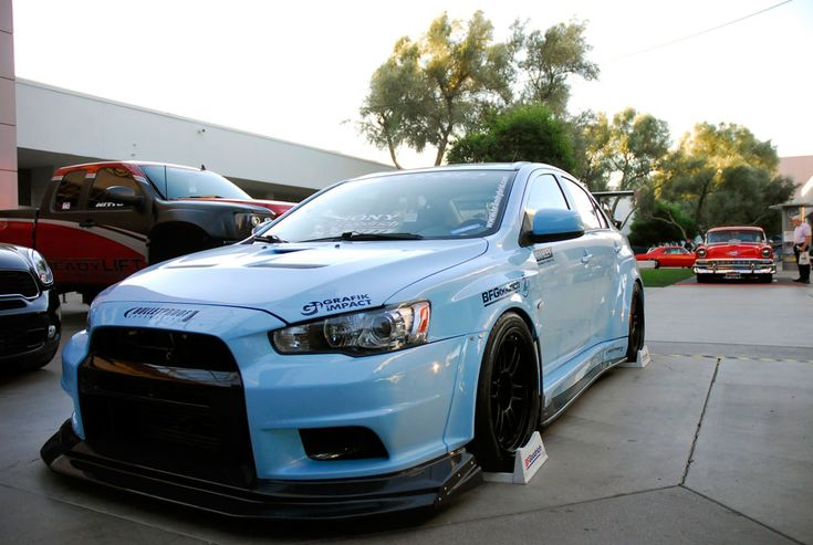 Team Hybrid's Custom Mitsubishi Lancer Evolution X Features Performance Air Filter at SEMA #knfilters