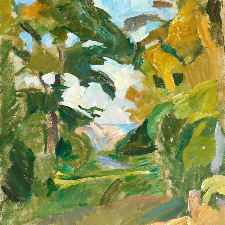 Edvard Weie (Danish, 1879-1943), Mindet, Christiansø, c.1912. Oil on canvas, 63 × 62 cm.