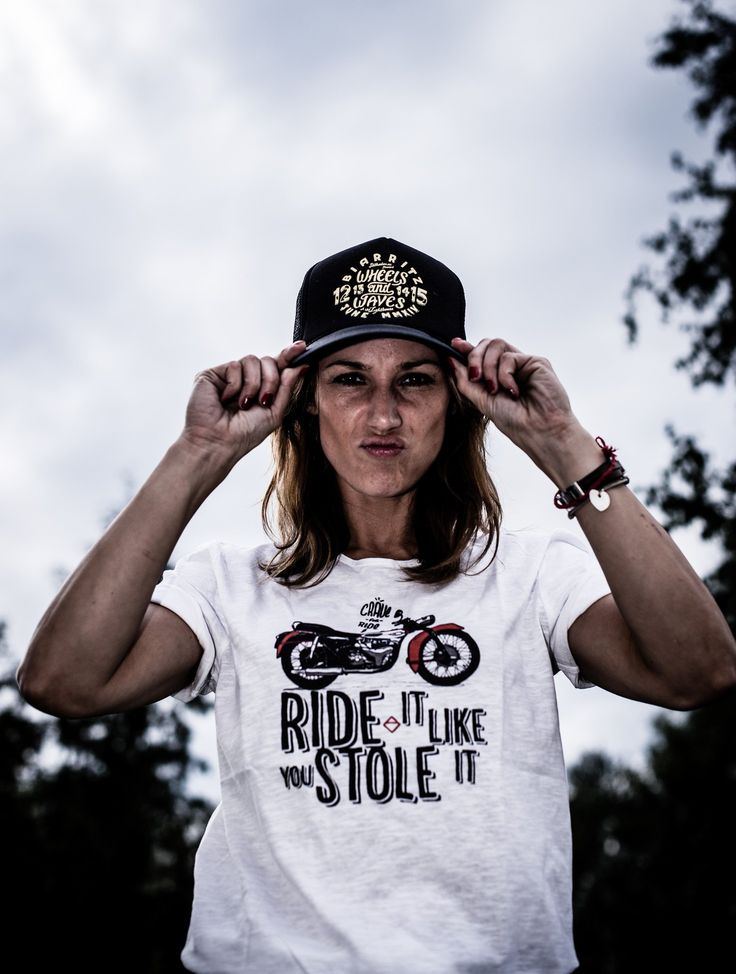 T-shirt - Ride it like You stole it - White - By Crave fior Ride