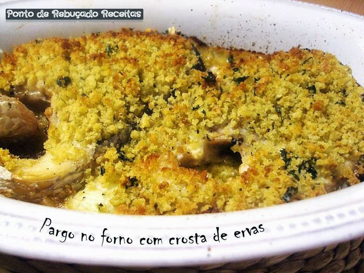 Snapper in the oven with herb crust