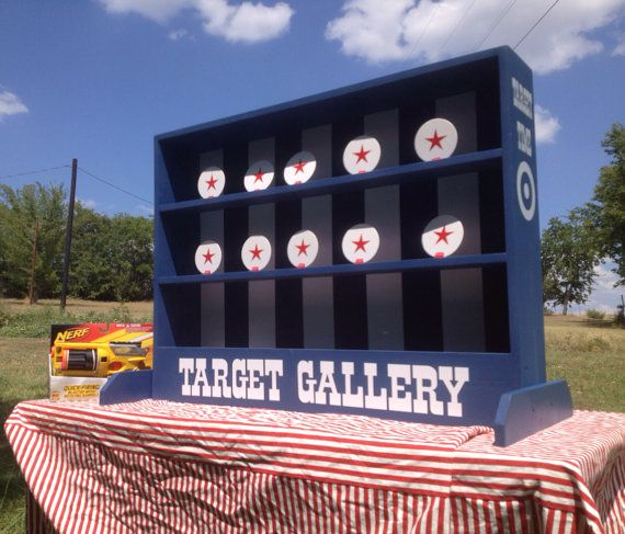 Nerf tabletop Shooting Gallery Carnival Game for by NorTexEvents
