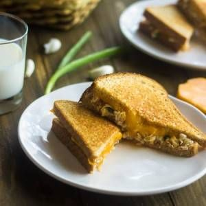 Healthy Egg Salad Grilled Cheese Sandwich {Whole Wheat} - Food Faith Fitness
