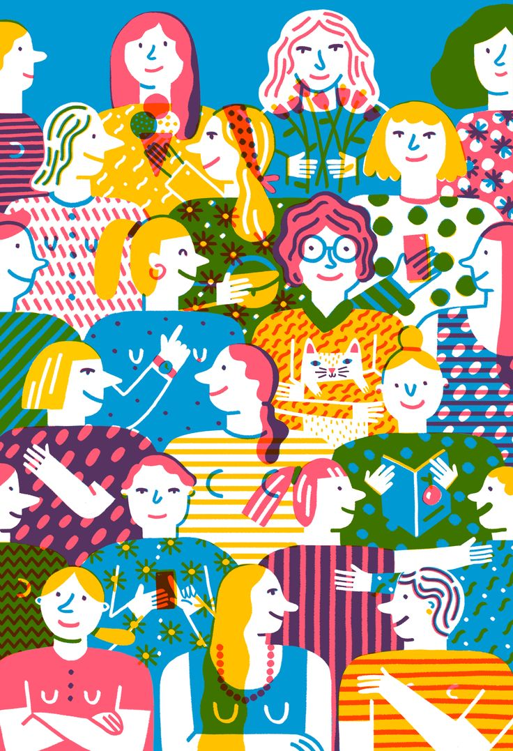 #anaseixas #illustration #newdivision #digital #character #women #pattern #print #colour #texture #decorative