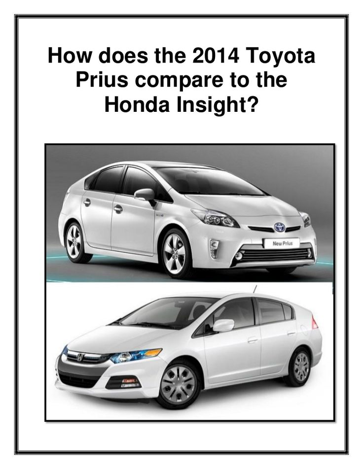 Why should you choose the 2014 Toyota Prius in N Charlotte over the Honda Insight! We have the answers for you! Find out how these two hybrid cars compare!
