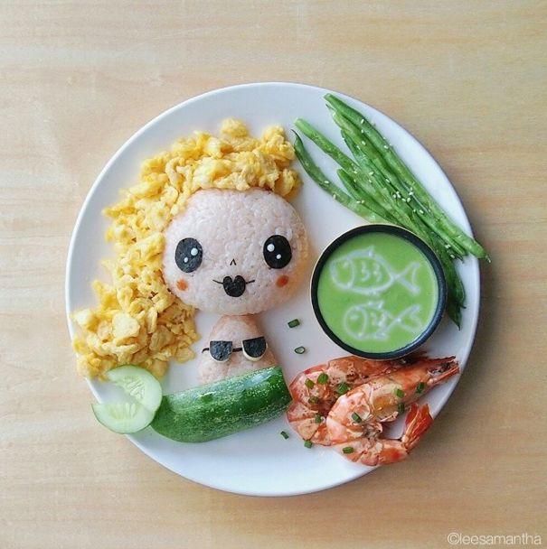 samantha lee food art - mermaid!