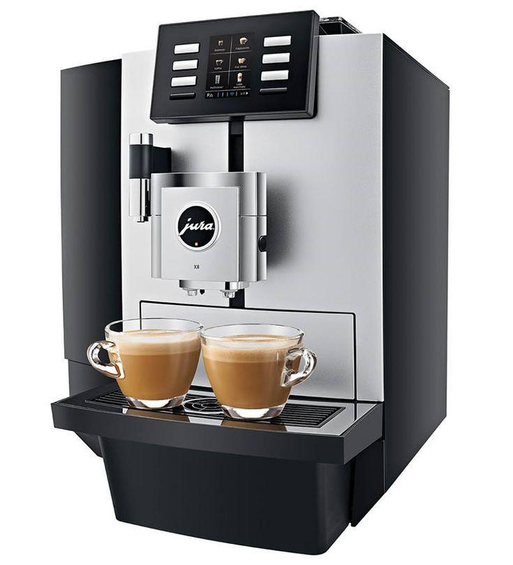 Jura X8 to w pełni automatyczny, prosty w obsłudze ekspres do kawy, który wybierany jest do przestrzeni open space, prestiżowego biura, hostelu i restauracji. Jego wydajność wynosi do 2000 kaw miesięcznie.