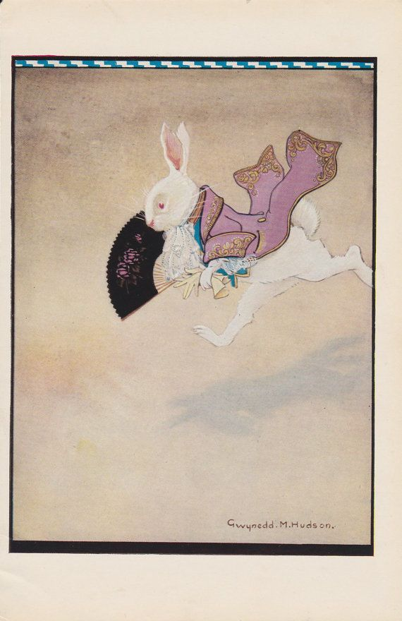 The White Rabbit rushing about.