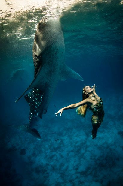 Inspired Images: Spectacular Underwater Whale Shark Fashion Shoot