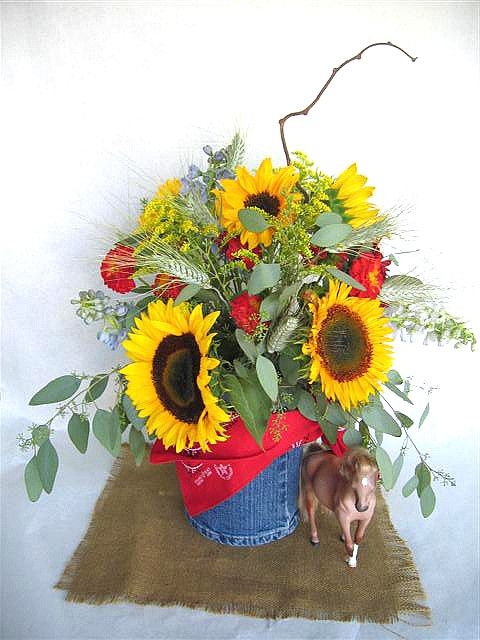 Western Centerpiece by Flowers Made Simple, via Flickr