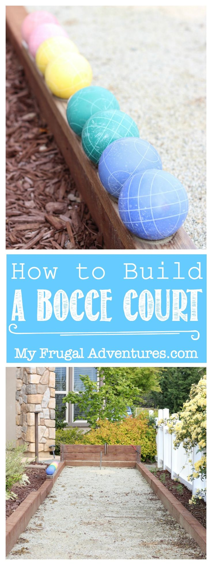 How to build a Bocce court in your backyard!  Perfect for entertaining or family fun!