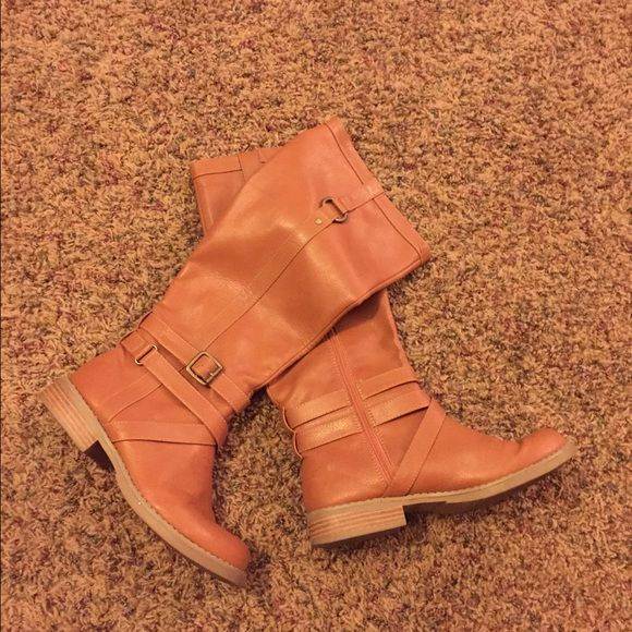 Old Navy boots Cute boots, but I never wear! I have way too many!  Old Navy brand Old Navy Shoes Heeled Boots