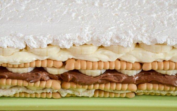 Hříšný dort s banány bez pečení | NejRecept.cz