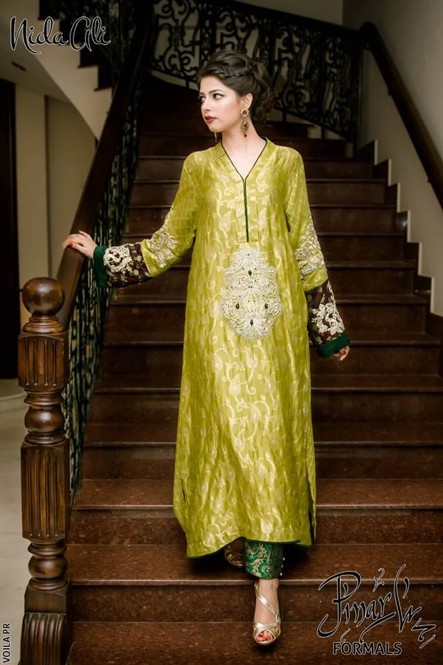 New Stylish Party Wear Dresses Collection 2015 For Women's By Nida Ali (2)
