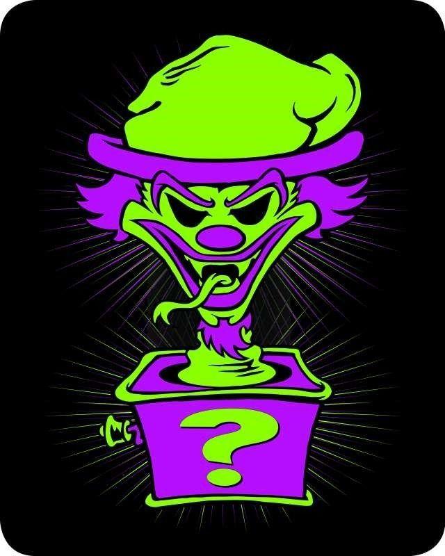 "Insane Clown Posse ICP Riddlebox Design Mink Fleece Queen Throw Blanket 79"" x 96 #Unbranded"