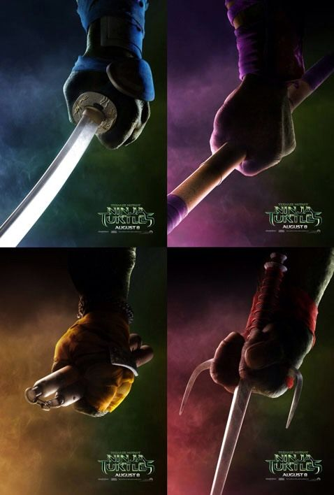 Four new teaser posters for the Teenage Mutant Ninja Turtles movie.