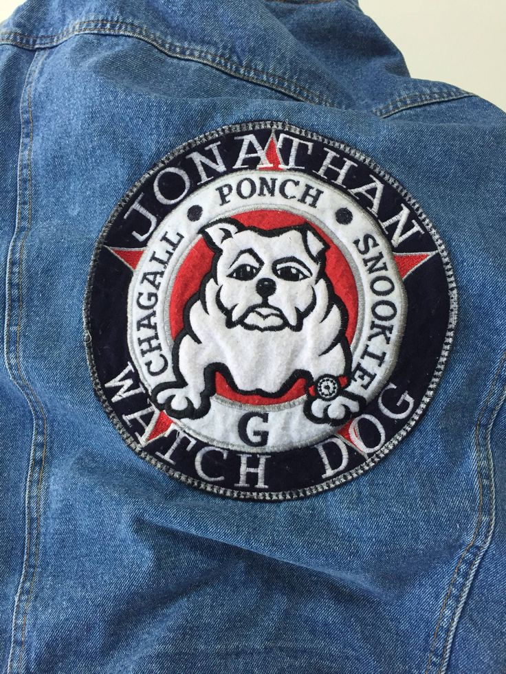 A personal favorite from my Etsy shop https://www.etsy.com/ca/listing/548049692/denim-hoodie-pitbull-patch-90s-jonathan