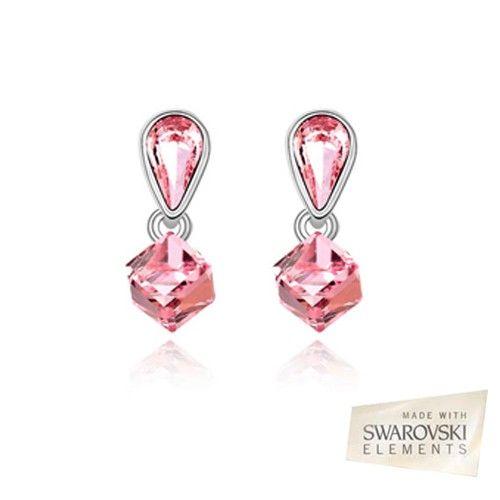 18K White Gold P Swarovski ELEMENTS Drop Earrings $20