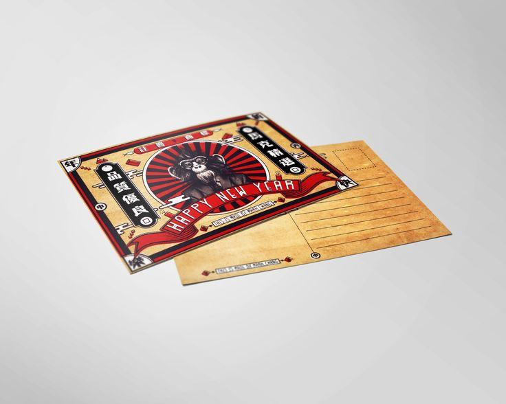 查看此 @Behance 项目: \u201c猴年賀卡設計 Chinese New Year Card (2016)\u201d https://www.behance.net/gallery/35119741/Chinese-New-Year-Card-(2016)