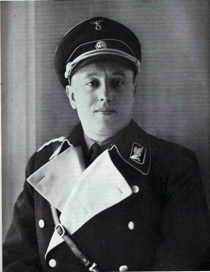 Albert Maria Forster (26 July 1902 – 28 February 1952) was a Nazi German politician. Under his administration as the Gauleiter of Danzig-West Prussia during the Second World War, the local non-German population of Poles and Jews was classified as sub-human and subjected to extermination campaign involving ethnic cleansing, mass murder, and forceful Germanisation. Forster was tried, convicted and hanged for his crimes after Germany was defeated.