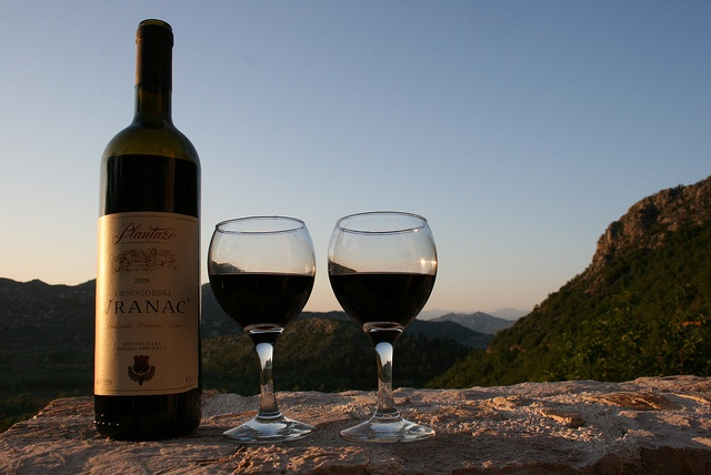 Vranac wine on our terrace | Villa Miela, Lake Skadar