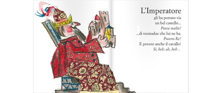 """""""Ho visto un Re"""", Dario Fo; disegni: Emanuele Luzzati; musica: Enzo Jannacci    www.galluccieditore.com/450.htm"""