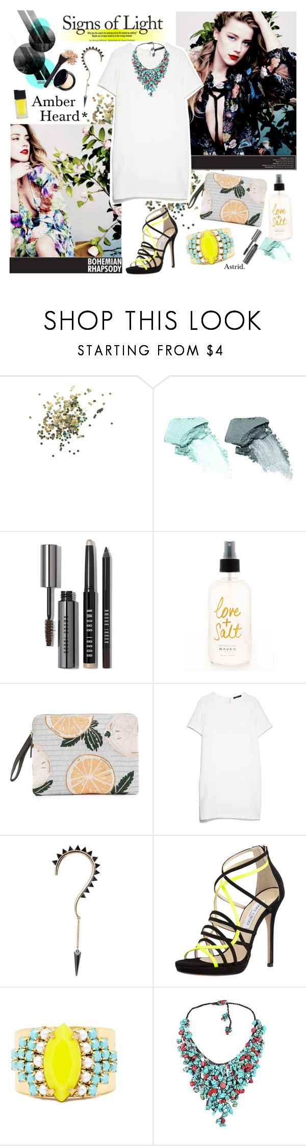 """""""Ambre Heard*"""" by askriiid ❤ liked on Polyvore featuring Topshop, NARS Cosmetics, Bobbi Brown Cosmetics, Lizzie Fortunato, MANGO, Jimmy Choo, Sandy Hyun, AeraVida and HOTmakeup"""
