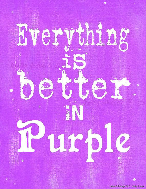 """Everything is better in Purple"" - PDF instant uprint download, art, vintage paper on Etsy"